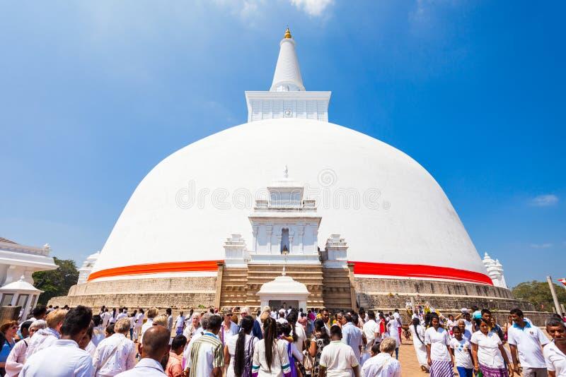 Ruwanwelisaya stupa在阿努拉德普勒,斯里兰卡 库存图片