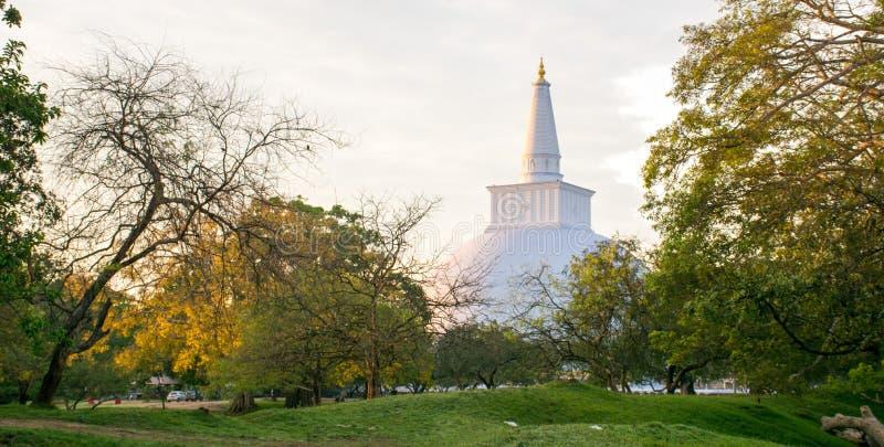 Ruwanwelisayaen är en stupa, i Sri Lanka royaltyfri fotografi