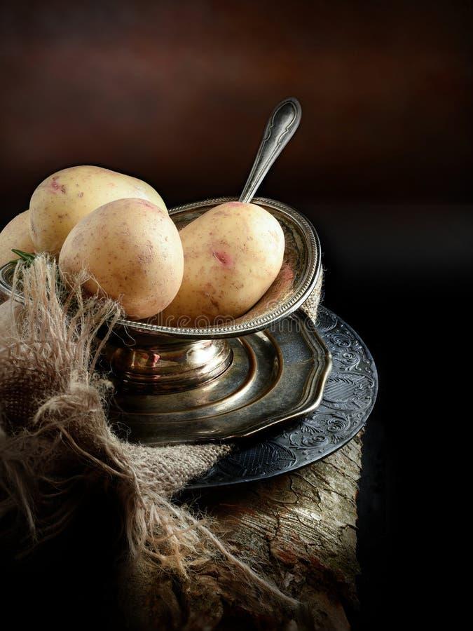 Ruwe aardappels royalty-vrije stock foto