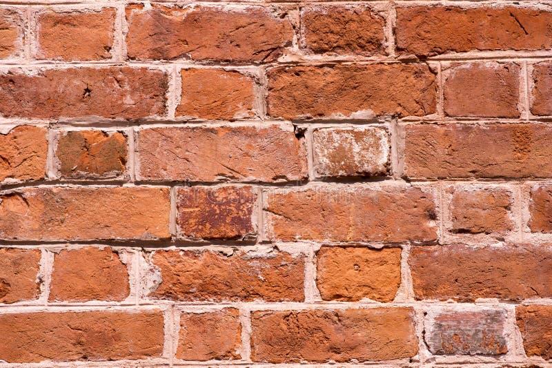 Ruwe bruine bakstenen muur royalty-vrije stock fotografie