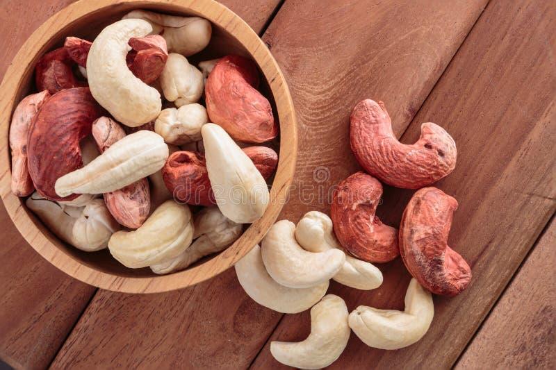 Ruwe cashewnoten stock afbeeldingen