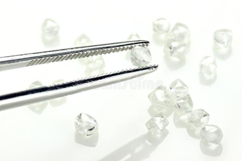 Ruwe diamanten 07 royalty-vrije stock afbeelding