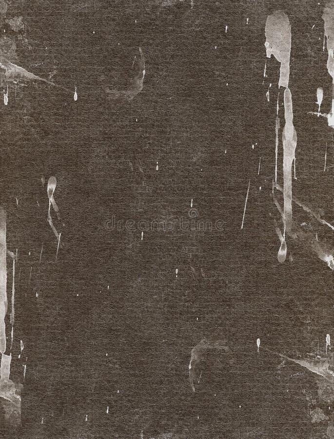 Ruwe document achtergrond met verfplonsen royalty-vrije stock fotografie