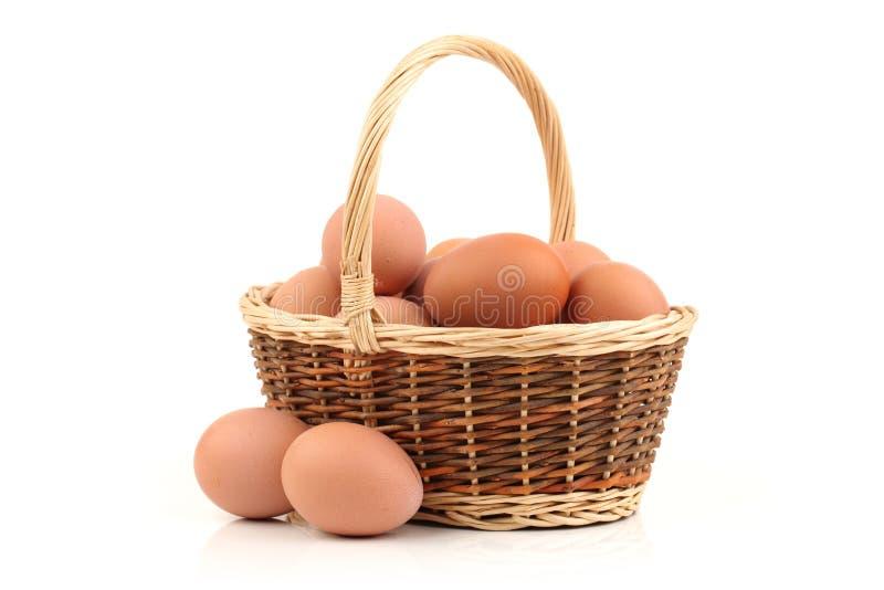 Ruwe eieren royalty-vrije stock afbeelding