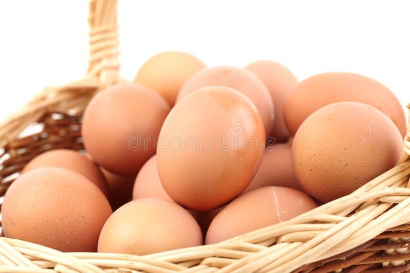 Ruwe eieren stock foto's