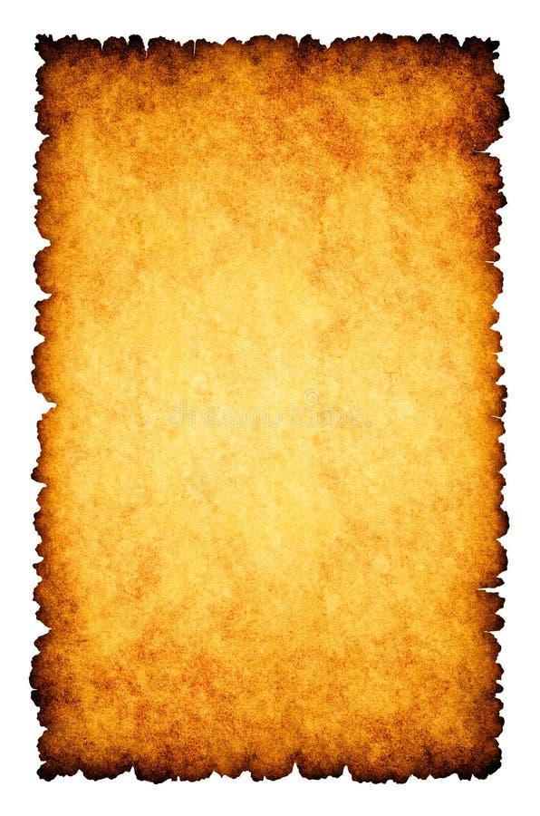 Ruwe gebrande perkamentdocument achtergrond royalty-vrije illustratie