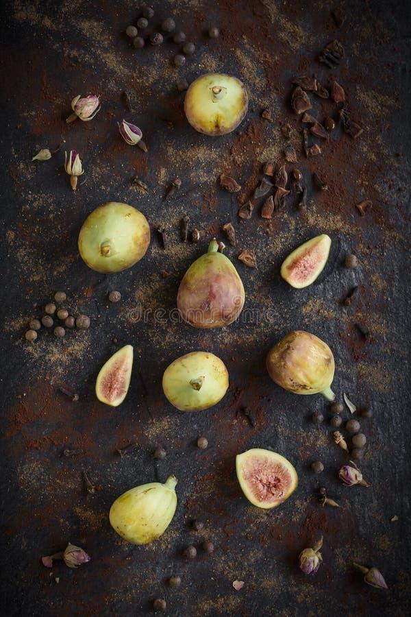 Ruwe gediende fig. stock afbeeldingen