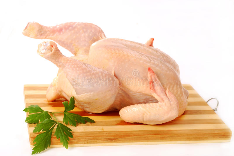 Ruwe gehele kip royalty-vrije stock afbeelding