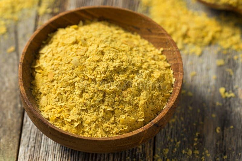 Ruwe Gele Organische Voedingsgist royalty-vrije stock afbeeldingen