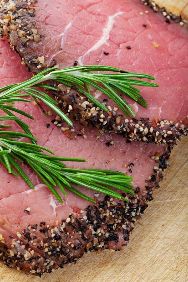 Ruwe het Lapje vlees van de peper royalty-vrije stock fotografie