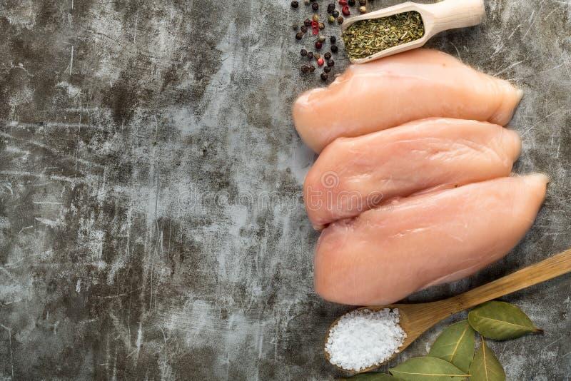 Ruwe kippenfilet royalty-vrije stock afbeelding