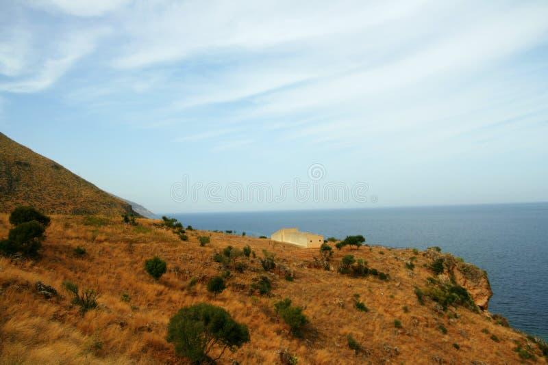 Ruwe kust, Sicilië royalty-vrije stock fotografie