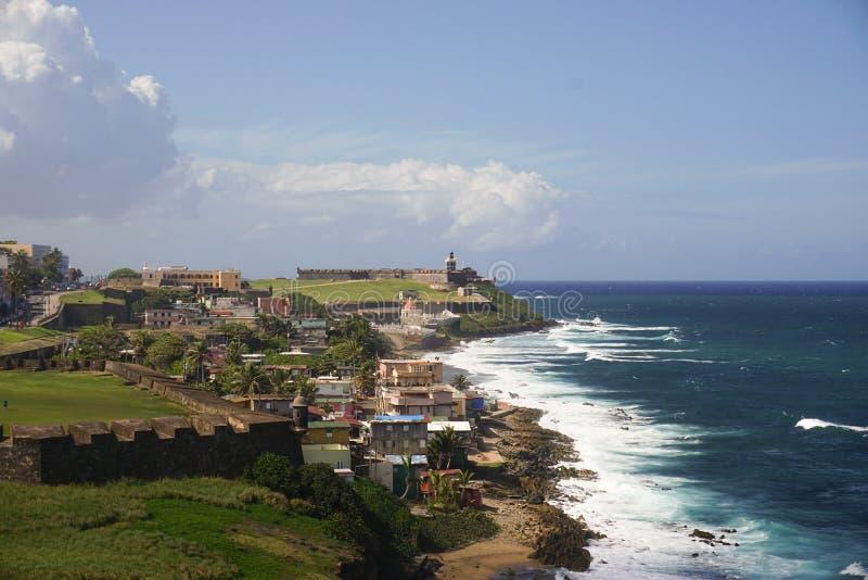 Ruwe mening in San Juan royalty-vrije stock foto's