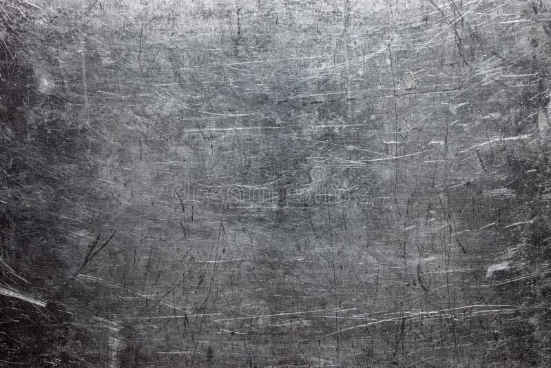 Ruwe metaaltextuur, grijs staal of gietijzeroppervlakte stock foto's