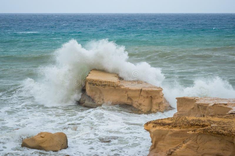Ruwe Middellandse Zee royalty-vrije stock afbeeldingen