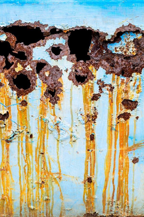 Ruwe oppervlakte van roestig metaal royalty-vrije stock foto's