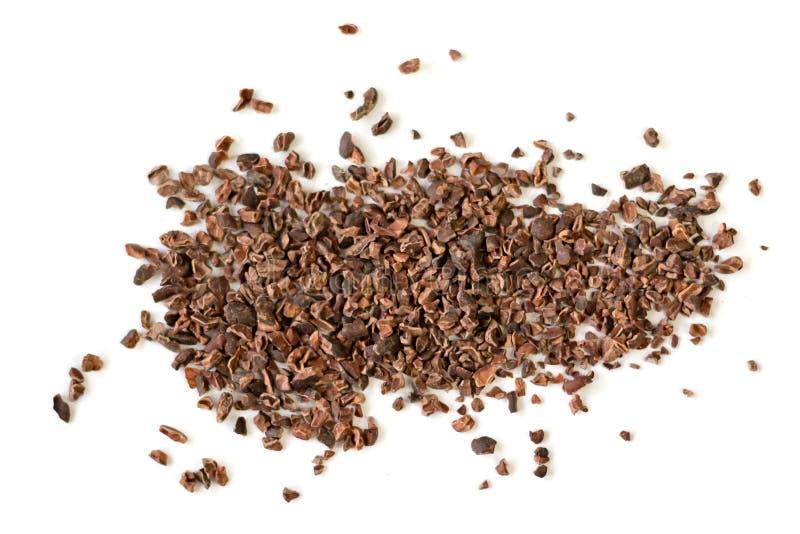 Ruwe organische cacaobonen royalty-vrije stock fotografie
