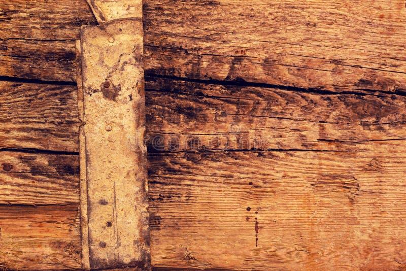 Ruwe oude rustieke houten plankachtergrond met barsten royalty-vrije stock foto