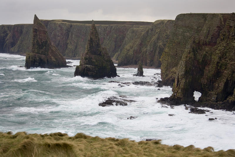 Ruwe overzees - John O Grutten - Schotland royalty-vrije stock afbeelding