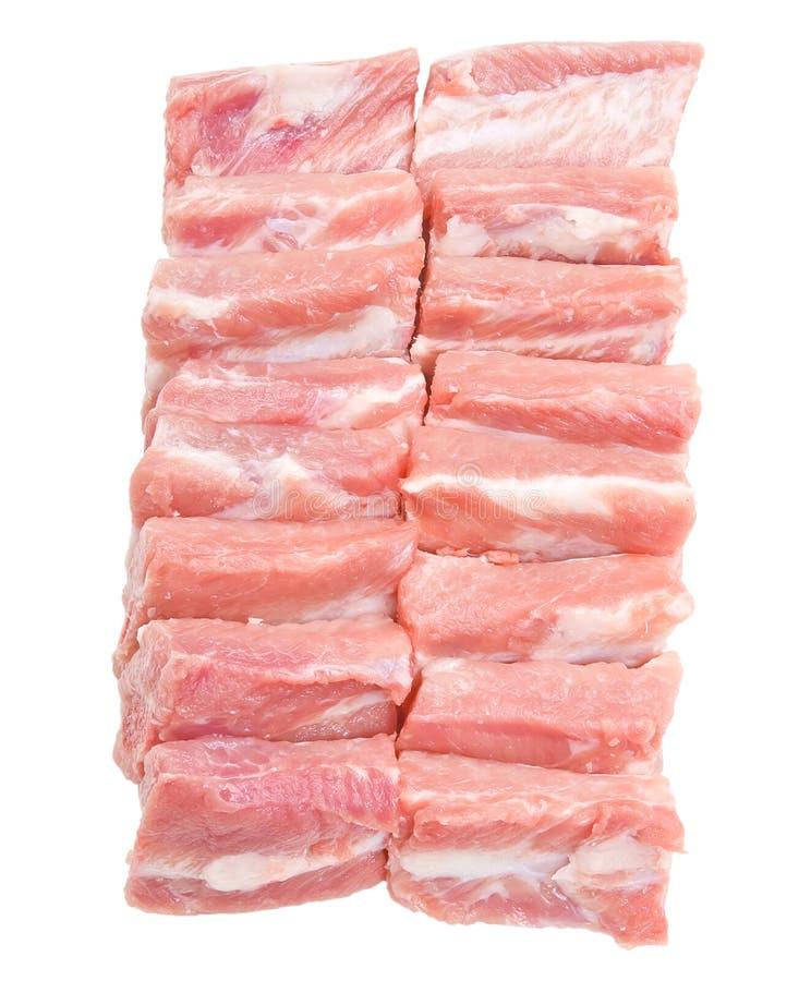 Ruwe Varkensvleesribben stock fotografie