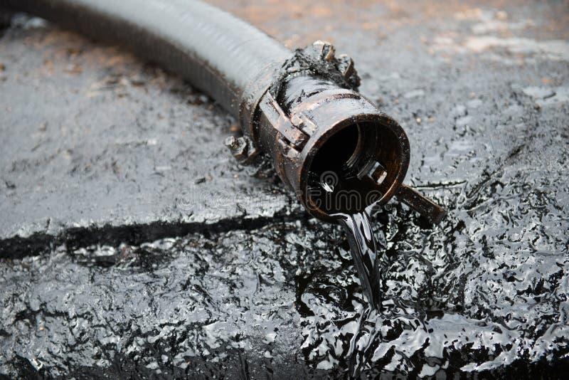 Ruwe vectorillustratie oil stock afbeelding