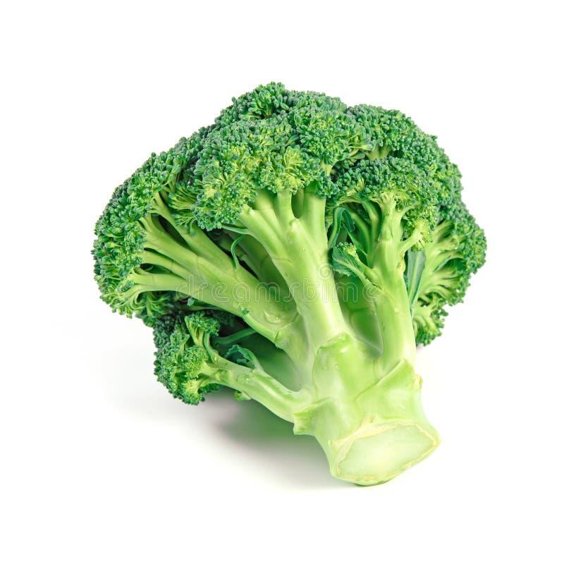 Ruwe Verse die Broccoli als Healphy-Voedsel op Wit wordt geïsoleerd stock foto