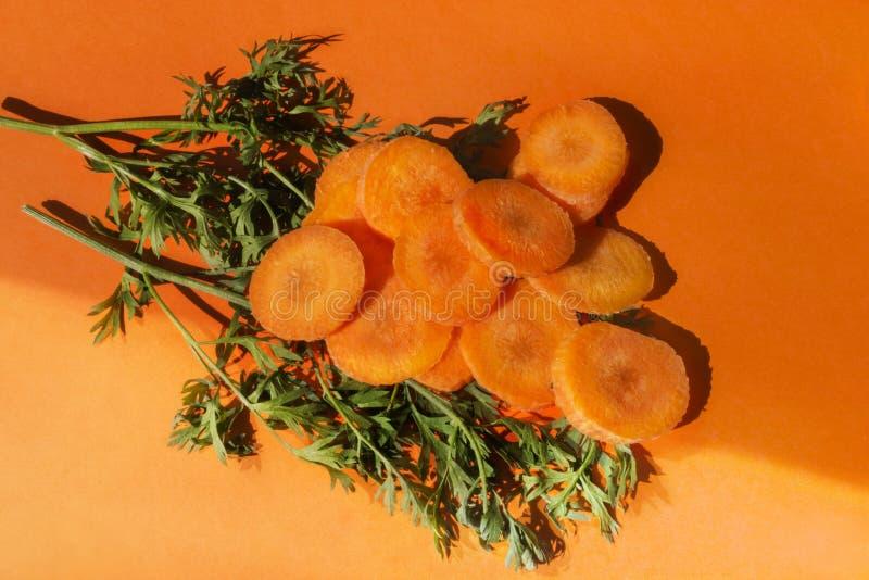 Ruwe wortelen stock foto