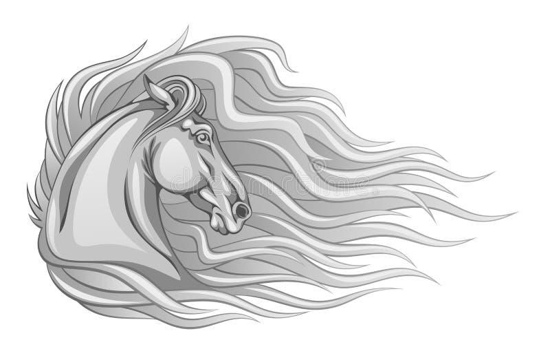 Ruwharig paard royalty-vrije illustratie