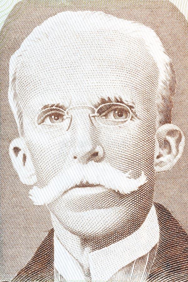 Ruy巴尔博萨德奥利韦拉画象 库存照片