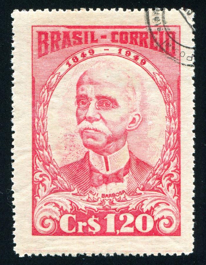 Ruy Barbosa drukujący Brazylia obrazy stock