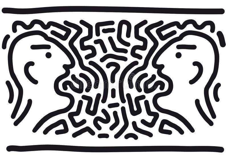 Ruzie (vector) royalty-vrije illustratie