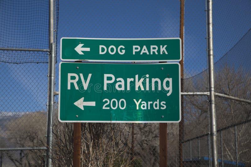 RV停车处标志 图库摄影