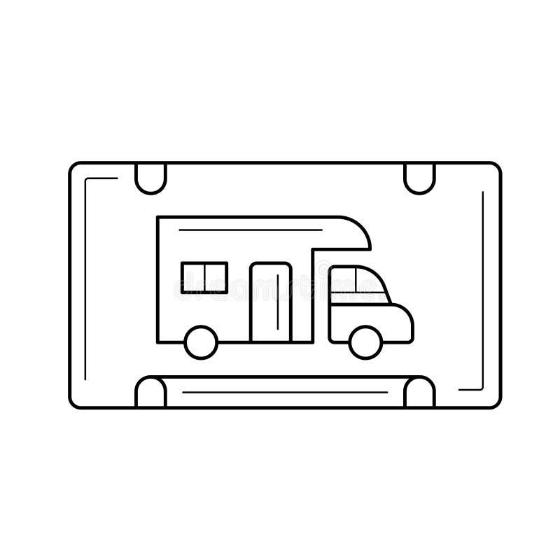 RV停车线象 库存例证
