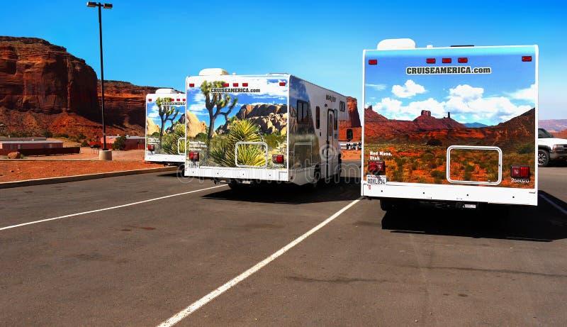 RV巡航美国,纪念碑谷,亚利桑那 库存照片