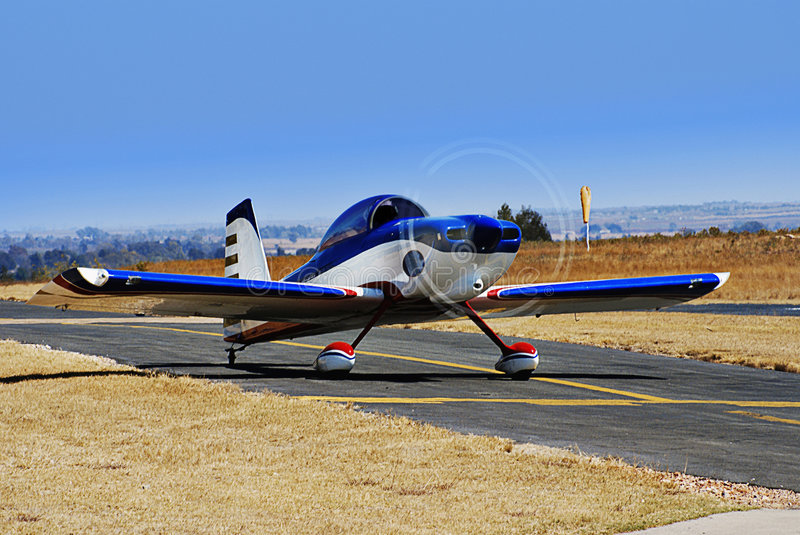 RV-8 Stunt Plane Taxiing For Takeoff Royalty Free Stock Photo