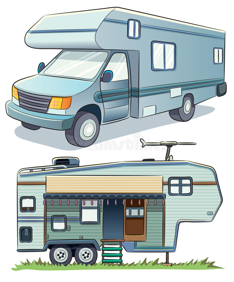 Rv-Auto royalty-vrije illustratie