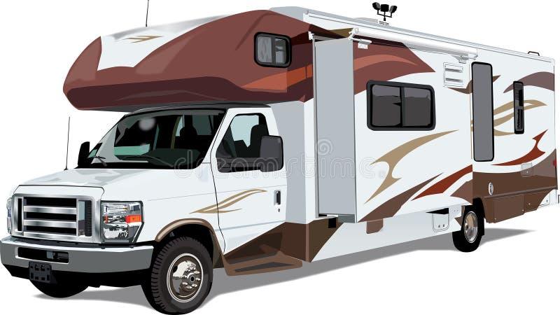 RV C-Class Camper Trailer vector illustration