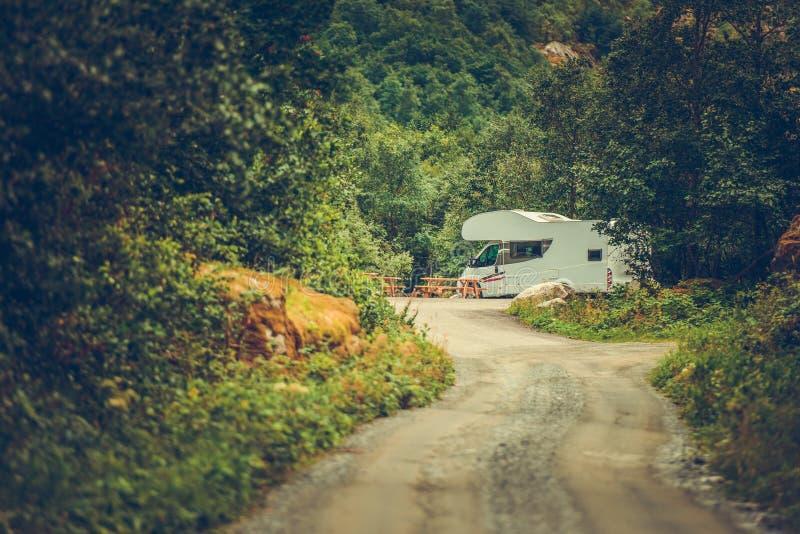 RV Calm Camping Spot royalty free stock photos