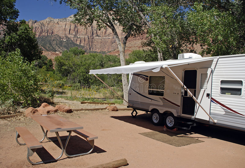 Download RV Camping stock image. Image of trailer, nature, recreational - 6792609