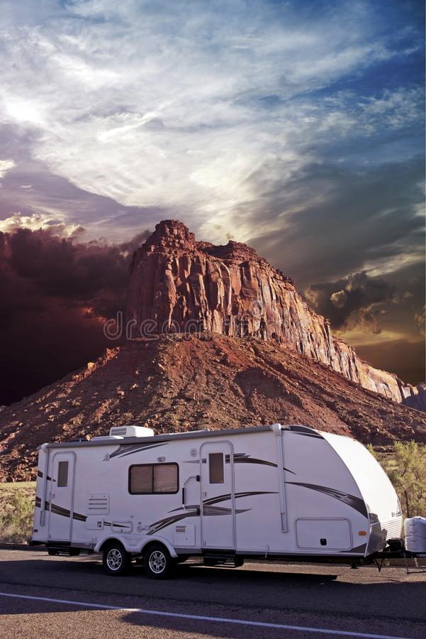 RV in Canyonlands royalty free stock photo