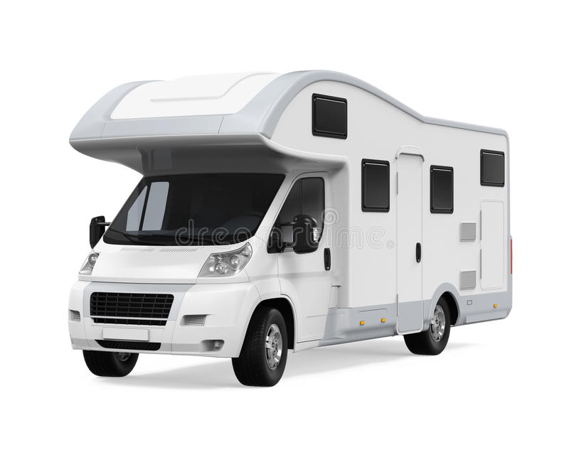 RV Caravan Isolated royalty free illustration