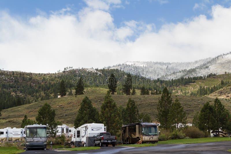 Rv-ing au Nevada photographie stock libre de droits