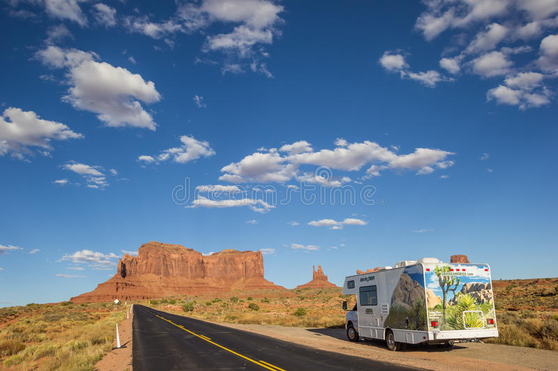 RV in monument valley, United States. Of America royalty free stock images