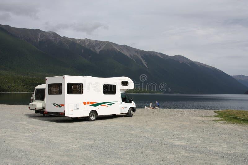 RV in Neuseeland lizenzfreie stockbilder