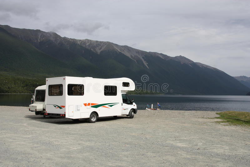 RV in New Zealand royalty free stock images