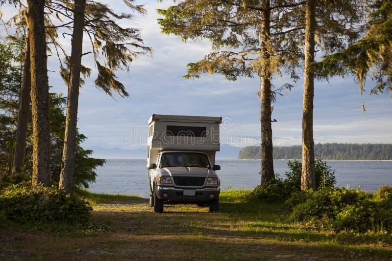 RV przy Bere punktem, Kanada BC obrazy royalty free