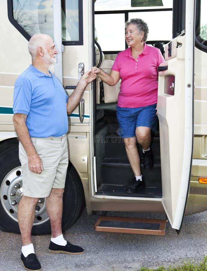 RV Seniors - Chivalry stock image