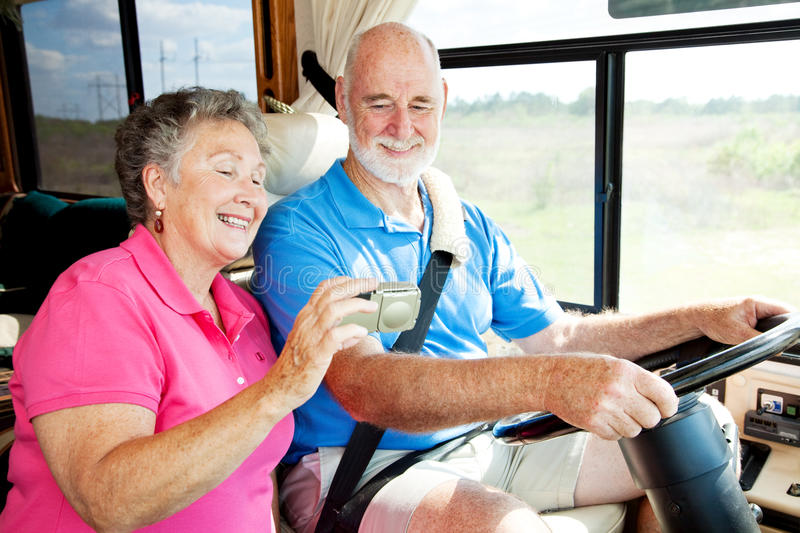 Download RV Seniors with GPS stock photo. Image of female, motor - 9582294