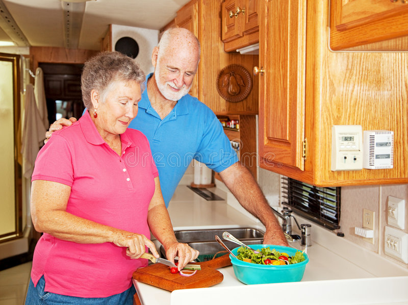 RV Seniors - Healthy Lunch royalty free stock images