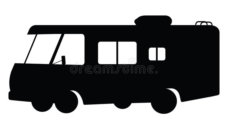 Download RV Silhouette Stock Vector Illustration Of Black Single